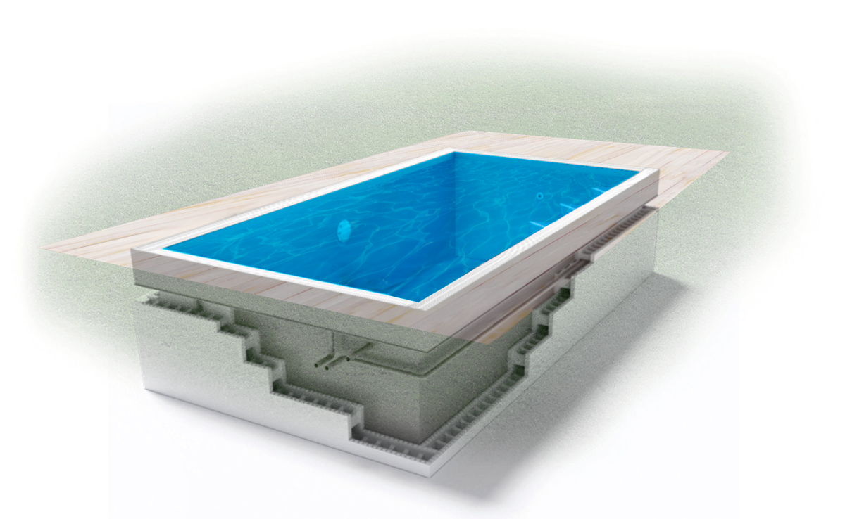 Pool in der Farbe Blau - Swimmingpool24