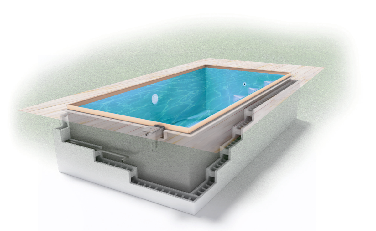 Pool in der Farbe Sand - Swimmingpool24